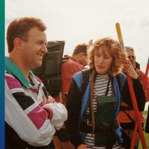 Wadden 1996, Tom and one of the guides