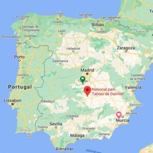Location in Spain of Las Tablas de Daimiel