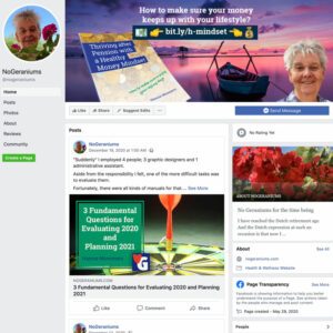 Facebook page No Geraniums