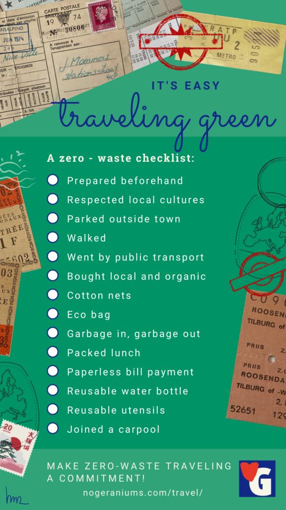 Checklist Sustainable Travel