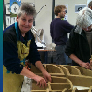 Making ceramics with a group of likeminded people